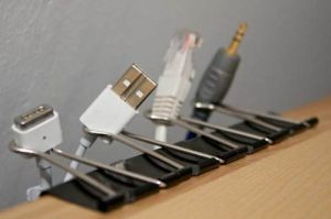 Use Paperclips to Organize Your Cables