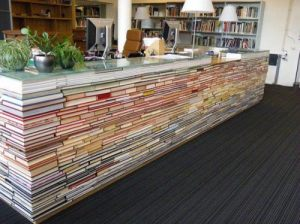 Use Old Books to Create a Desk