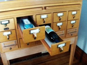 Repurpose a Card Catalogue Into a Mini Bar