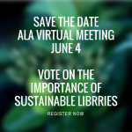 Save the DateALA Virtual meetingJune